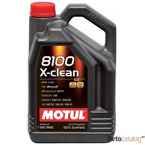 Motul 8100 X-Clean 5W40, 5л